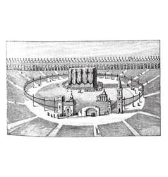 Kaaba at mecca vintage vector
