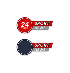 Latest news icons sports news for journalists vector