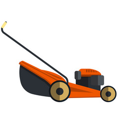 Lawn mower icon flat isolated vector