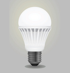 led bulb vector image