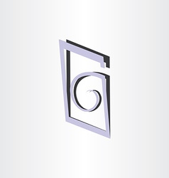 Letter g abstract symbol design vector