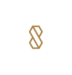 letter s logo line design abstract vector image