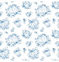 Lotus Sketch Pattern vector image