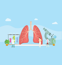 lungs healthy treatment concept mangement with vector image