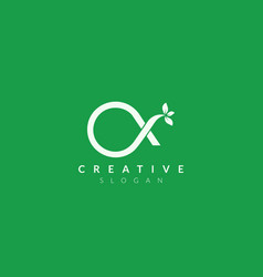 Monogram logo design combining letter o and x vector