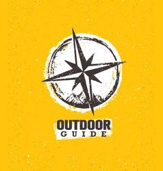 Outdoor mountain trail guide creative adventure vector