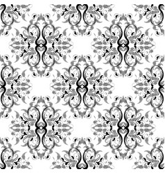 paisley seamless pattern hand drawn monochrome vector image