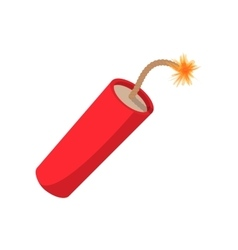 Red dynamite stick cartoon icon vector