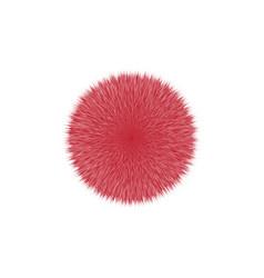 Red fluffy hair ball vector
