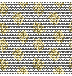 Seamless black white stripes gold shine vector