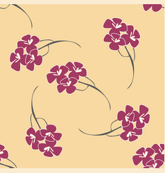 seamless pattern background with flowers like vector image