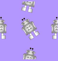 Seamless texture of the robot vector