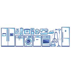 set home appliances vector image