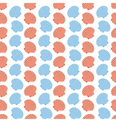 Shellfish Scallops Seamless Texture vector