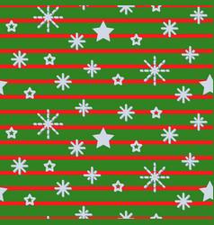 Snowflake striped green seamless pattern vector