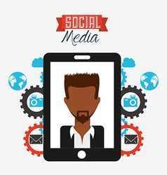 social media design vector image