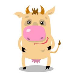 Stock cartoon cow vector