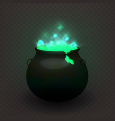 stock witches cauldron vector image