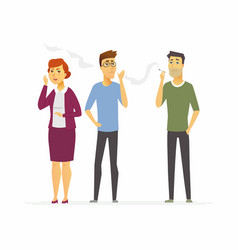 stop smoking - cartoon people character isolated vector image