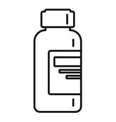 syringe liquid bottle icon outline style vector image