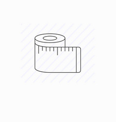 Tape measure icon isolated vector