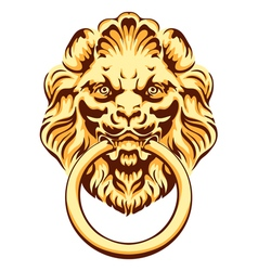 The head of a lion - door handle vector