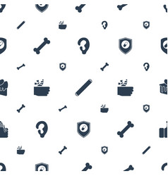 Treat icons pattern seamless white background vector