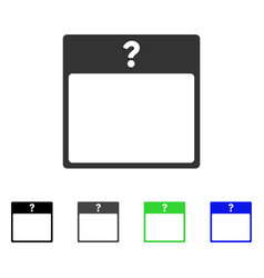 Unknown day calendar page flat icon vector
