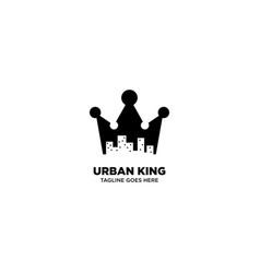 Urban king logo template vector