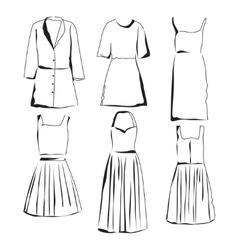 Woman clothes vector