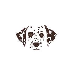 dalmatian head brown spotty dog vector image vector image