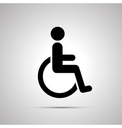 Disabled handicap simple black icon vector image vector image