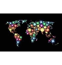 Gem world map vector image vector image