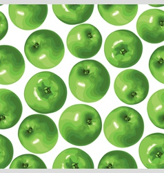 apple green pattern vector image vector image