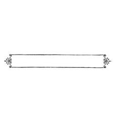 filigree banner has a single line border vintage vector image vector image