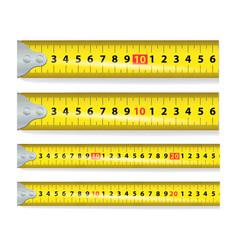 yellow measure tape measure tool equipment vector image