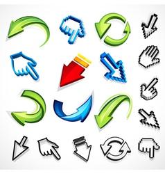 computer arrow icons vector image vector image