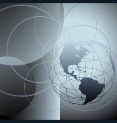 globe earth abstract global circles vector image vector image