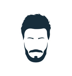 hipster with trendy modern hairstyle mustache vector image