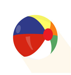 isolated beach ball vector image vector image