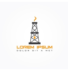 oil rig abstract design template vector image