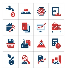 Set color icons of investment and finance vector image