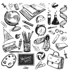 Sketch Doodles Back To School Background vector image