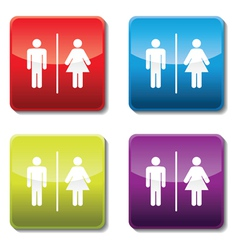 toilet sign vector image