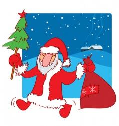 Santa Claus doodle vector image