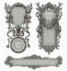 vintage engraved frames vector image