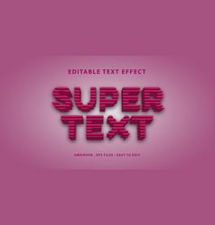 3d super text effect editable text vector