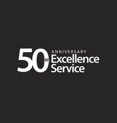 50 year anniversary excellence service template vector