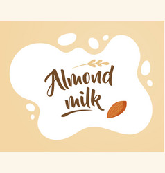 almond milk design elements vector image