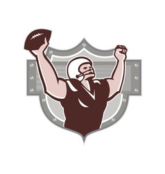 American Football Receiver Touchdown Retro vector image